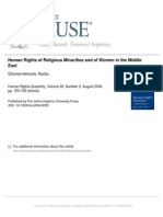 Human Rights of Religious Minorities and of Women in the Middle East