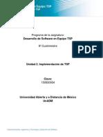 Unidad 2. Implementación de TSP
