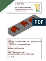 Análisis Estructuras de Bovedas de Fabricas