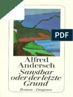 Andersch, Alfred - Sansibar Oder Der Letzte Grund