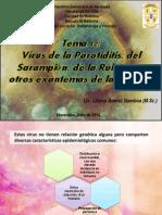 Tema 12 Virus de La Parotiditis Sarampión Rubéola y Otros Exantemas de La Infancia