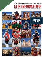 BOLETIN INFORMATIVO CLUB DEPARTAMENTAL PUNO DE LIMA Segunda Etapa Nª 1, Enero-Junio 2015