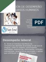 Evaluacion de Desempeño en Recursos Humanos