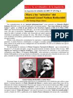 Carlos Marx y Los Subsidios Del Banquero Rothschild