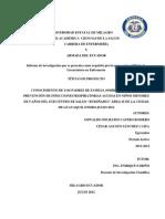 Conocimientos de Los Padres de Familia Sobre Prácticas de Prevención de Infecciones Respiratorias Agudas en Niños Menores de 5 Años Del Sub Centro de Salud Rumiñahui Área 2 de La Ciudad de Guayaqui