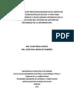 Modelamiento de Procesos Basados en El Grupo de Normas Internacionales ISO-IEC 27000 Para Gestionar El Riesgo y Seleccionar Controles en La Implementación Del Sistema de Gestión de Seguridad de La Información