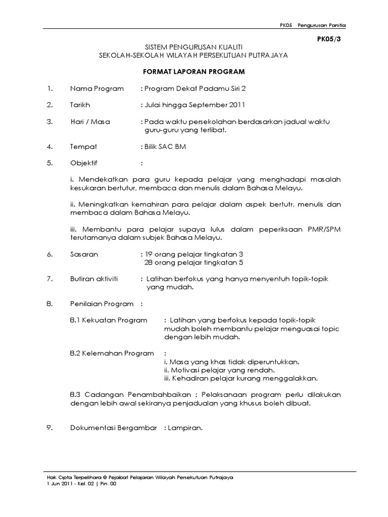 Contoh Format Dokumentasi Program Sekolah Xmast 4