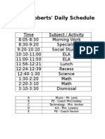 daily schedule 15-16