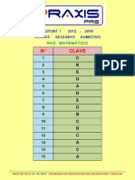 Claves Area b Sumativo III 2015-2016 Raz. Matematico