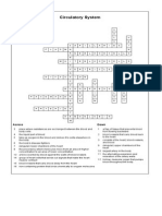 Circulatory System Crossword Puzzle Answers