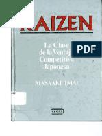 Kaizen La Clave Dela Ventaja Competitiva Japonesa