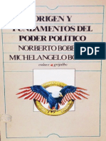 Bobbio Norberto - Origen y Fundamentos Del Poder Politico