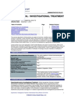 United HealthCare Oxford Policy  EXPERIMENTAL / INVESTIGATIONAL TREATMENT EXCLUSIONS