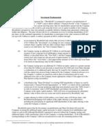 General Growth Reorganization Term Sheet