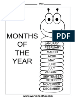 Bug Wide Months of the Year CHART- A