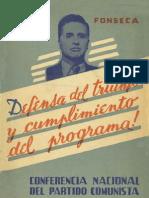 Defensa Del Triunfo y Cumplimiento Del Programa