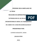 Relaciones Interpersonales Banco de La Nacion