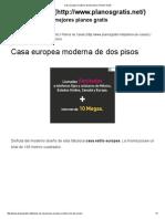 Casa Europea Moderna de Dos Pisos _ Planos Gratis