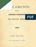 Reglamento de la Convención Extraordinaria del Partido Radical