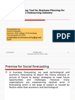 Social Forecasting - Relevance In