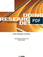 Doing Research in Design - Christopher Crouch