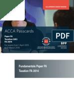 ACCA F6 - Tax FA 2015 Passcards 2015