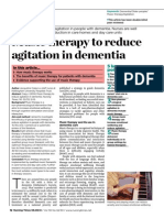 060814 Music Therapy to Reduce Agitation in Dementia