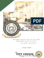 Agenda of the 98th Regular Session