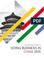 An Introduction to Doing Business in China 2015 - Preview