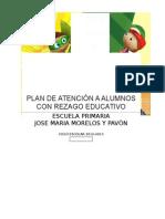 Plan de Atención a Alumnos Con Rezago Educativo