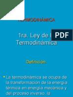 Primera Ley de Termoprimera ley de termo