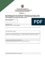 Critic Paper Format