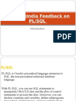 SynapseIndia Feedback on PL or SQL