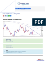 Forex Daily Outlook 10 Aug 2015 Bluemaxcapital