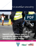 Impunity and Violence Against Transgender Women Human Rights Defenders in Latin America