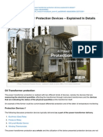 Power Transformer Protection Devices