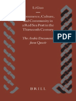 Commerce, Culture, And Community in a Red Sea Port in the Thirteenth Century - The Arabic Documents From Quseir - Li Guo