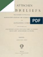 CONZE - Die Attischen Grabreliefs III.1 Taf. (1906)
