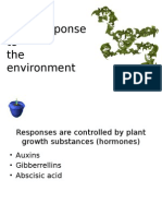 plant response to the environemnt (hormones and defence)