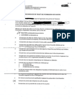 Ordonnance de rejet de permission