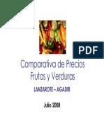 Comparativa de Precios Frutas y Verduras