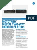 Mototrbo Repeater Spec Sheet