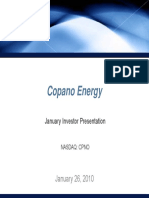 CPNO Copano Energy Jan 2010 Presentation
