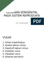 Kelainan Kongenital Pada Sistem Reproduksi