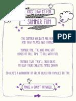 Harveys Furniture Childrens' Summer Activity Workbook