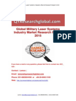 Global Military Laser Systems Industry Market Research Report 2015