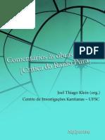 Comentários às obras de Kant