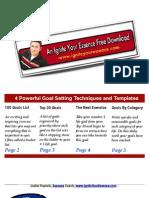 4 Powerful Goal Setting Exercises