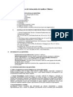 Conteúdo- Técnico de Laboratório de Análises Clínicas