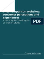 Price Comparison Websites Consumer Perceptions and Experiences